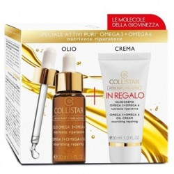 Collistar Zestaw Omega 3 i 6 Oil Cream Krem z kwasami omega 30ml + Omega 3 Omega 6 Oil Nourishing Olejek do twarzy 30ml