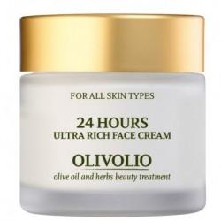 Olivolio 24 Hours Ultra Rich Face Cream Krem odżywczo-nawilżający z kwasem hialuronowym 50ml