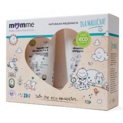 Momme Mother&Baby Natural Care Zestaw dla malucha Aksamitna oliwka pielęgnacyjna 100ml + Łagodny żel do mycia 2w1 150ml