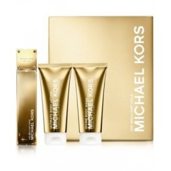 Michael Kors 24K Brilliant Gold Woda perfumowana 50ml spray + Balsam do ciała 100ml + Żel pod prysznic 100ml