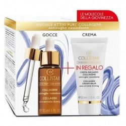 Collistar Attivi Puri Collagen Przeciwzmarszczkowy krem do twarzy 30ml + Collagen Anti-Wrinkle Eliksir ujędrniający 30ml