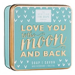 The Scottish Fine Soaps Love You To The Moon And Back Soap In A Tin Mydło w puszce 100g