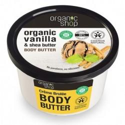 Organic Shop Organic Vanilla & Shea Butter Body Butter Masło do ciała o zapachu wanilii i masła shea 250ml