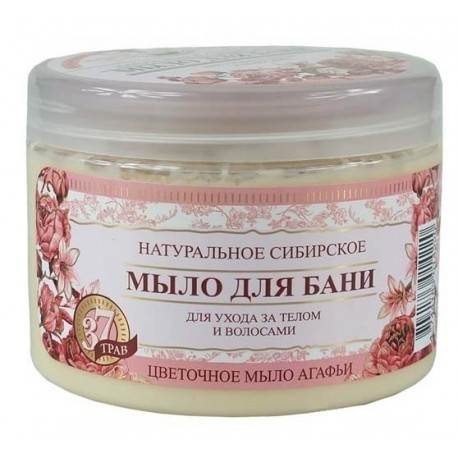 Bania Agafii Naturalne syberyjskie kwiatowe mydło do pielęgnacji ciała i włosów 500ml