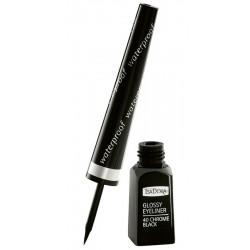 IsaDora Glossy EyeLiner Waterproof Wodoodporny liner w pędzelku 40 Chrome Black 3,7ml