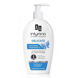 AA Intymna Delicate Creamy Feminine Wash Kremowy płyn do higieny intymnej z dozownikiem 300ml