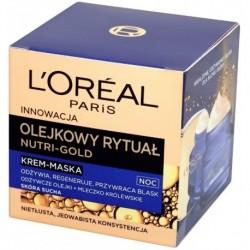 L`Oreal Nutri Gold Olejkowy Rytuał Krem-maska do skóry suchej na noc 50ml