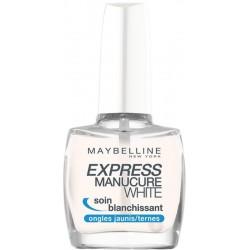 Maybelline Express Manicure White Baza wybielająca do paznokci 10ml