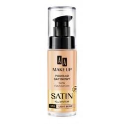 AA Make Up Satin Foundation IQ10 System Podkład satynowy do skóry wrażliwej i skłonej do alergii 103 Light Beige 30ml