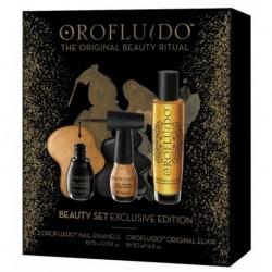 Orofluido The Original Beauty Zestaw Nail Enamel Lakier do paznokci 2 x 15ml + Originall Elixir Eliksir do włosów 50ml