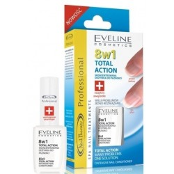 Eveline 8in1 Total Action Nail Therapy Skoncentrowana odżywka do paznokci 12ml