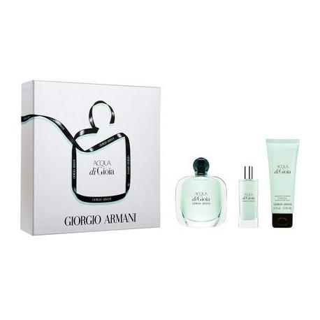 Giorgio Armani Acqua di Gioia Woda perfumowana 50ml spray + Balsam do ciała 75ml + Woda perfumowana 15ml spray