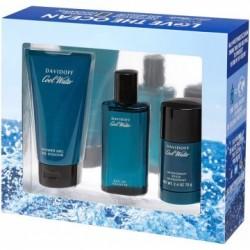 Davidoff Cool Water Man Woda toaletowa 75ml spray + Żel pod prysznic 75ml + Dezodorant 75ml sztyft