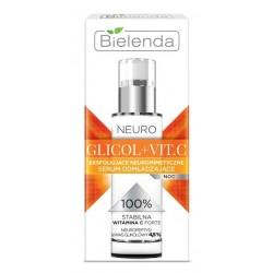 Bielenda Neuro Glikol+Vit.C Eksfoliujące neuromimetyczne serum odmładzające na noc 30ml