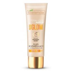 Bielenda Total Look Make-Up Nude Glow Fluid rozświetlający 01 Jasny Beż 30g
