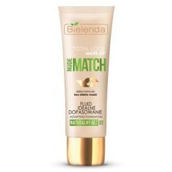 Bielenda Total Look Make-Up Nude Match Fluid idealne dopasowanie 02 Naturalny Beż 30g