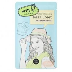 Holika Holika Mask Sheet After Taking Trip Rozjaśniająca maseczka na bawełnianej płachcie dla skóry po wycieczce