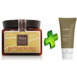 Saryna Key Dry No More Pure African Shea Butter Masło do włosów 500ml + Hand Butter Instant Softness Masło do rąk 75ml