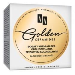 AA Golden Ceramides Rich Rebuilding Cream Mask Bogaty krem-maska odbudowująca ze złotem koloidalnym 50ml