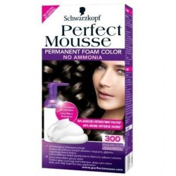 Schwarzkopf Perfect Mousse Farba do włosów bez amoniaku 300 Black Brown