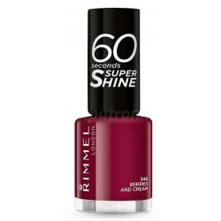 Rimmel 60 Seconds Super Shine Lakier do paznokci 340 Berries And Cream 8ml