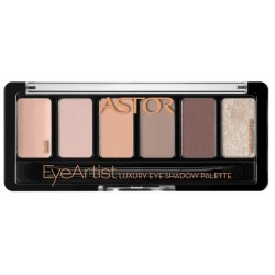 Astor Eye Artist Luxury Eye Shadow Palette Paleta cieni do powiek 100 Cosy Nude 5,6g