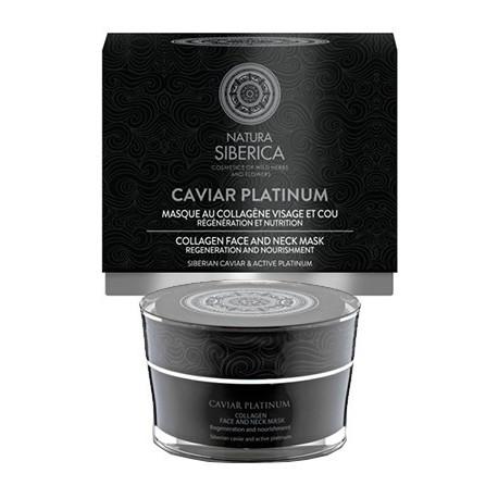 Siberica Professional Caviar Platinum Collagen Face And Neck Mask Kolagenowa maseczka do twarzy i szyi 50ml