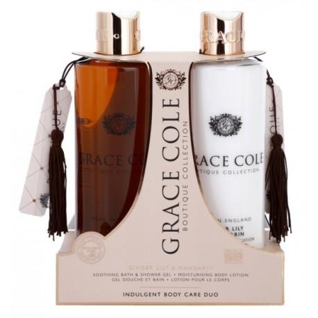 Grace Cole Boutique Bath & Shover Gel Żel pod prysznic 500ml + Balsam do ciała 500ml Ginger Lily & Mandarin
