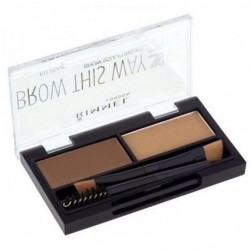 Rimmel Brow This Way Brow Sculpting Kit Zestaw do konturowania brwi 002 Medium Brown 1,3g
