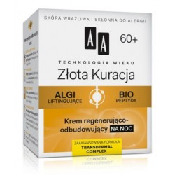 AA Technology Age 60+ Gold Cure Night Cream Regenerująco-odbudowujący krem na noc 50ml