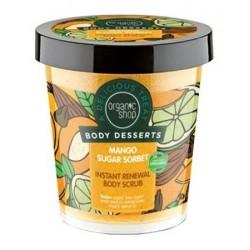 Organic Shop Body Desserts Mango Sugar Sorbet Body Scrub Cukrowy peeling do ciała o zapachu Mango 450ml