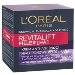 L`Oreal Revitalift Filler [HA] 40+ Anti-Age Krem na noc 50ml