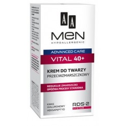 AA Men Advanced Care Face Cream Vital 40+ Przeciwzmarszkowy krem do twarzy 50ml