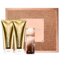Michael Kors Rose Radiant Gold Woda perfumowana 50ml spray + Balsam do ciała 100ml + Żel pod prysznic 100ml