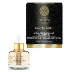 Siberica Professional Caviar Gold Strengthening Face And Neck Serum Wzmacniające serum do twarzy i szyi 30ml