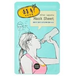 Holika Holika Mask Sheet After Leports Odświeżająco-oczyszczająca maseczka na bawełnianej płachcie po wysiłku fizycznym