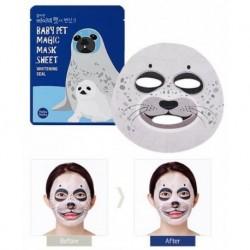 Holika Holika Baby Pet Magic Mask Sheet Whitening Seal Rozjaśniająca maseczka do twarzy na bawełnianej płachcie