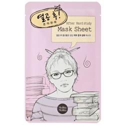 Holika Holika Mask Sheet After Hard Study Oczyszczająco-łagodząca maseczka na bawełnianej płachcie po ciężkiej nauce
