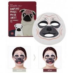 Holika Holika Baby Pet Magic Mask Sheet Anti-Wrinkle Pug Maseczka pielęgnacyjna do twarzy na bawełnianej płachcie