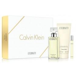 Calvin Klein Eternity For Women Woda perfumowana 100ml spray + Woda perfumowana 10ml roll-on + Balsam do ciała 200ml
