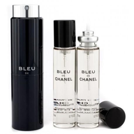 Chanel Bleu Woda toaletowa 20ml spray + 2 x 20ml wkłady spray