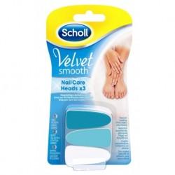 Scholl Velvet Smooth Wymienne nasadki do elektronicznego systemu pielęgnacji paznokci 3szt