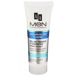 AA Men Advanced Care Face And Stubble Gel Nawilżający żel do twarzy z zarostem 50ml