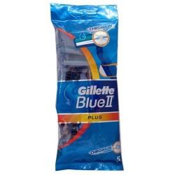 Gillette Blue II Plus Chromium Jednorazowe maszynki do golenia dla mężczyzn 5szt