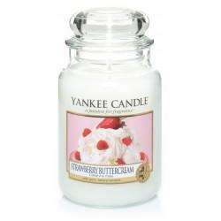 Yankee Candle Large Jar Duża świeczka zapachowa Strawberry Buttercream 623g