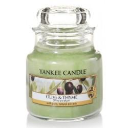 Yankee Candle Small Jar Mała świeczka zapachowa Olive & Thyme 104g
