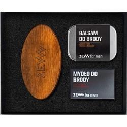 Zew For Men Zadbany Brodacz Balsam do brody 80ml + Mydło do brody 85ml + Szczotka do profesjonalnej pielęgnacji zarostu