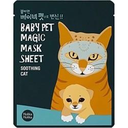 Holika Holika Baby Pet Magic Mask Sheet Soothing Cat Przeciwtrądzikowa maseczka pielęgnacyjna do twarzy