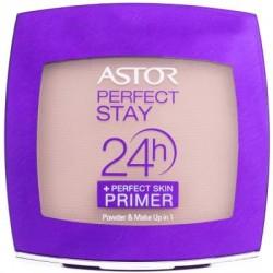 Astor Perfect Stay 24H Powder + Perfect Skin Primer Długotrwały puder z bazą 102 golden Beige 7g