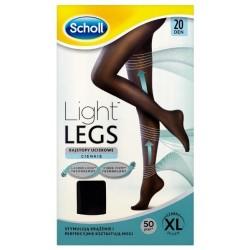 Scholl Light Legs Rajstopy uciskowe 20DEN Black XL